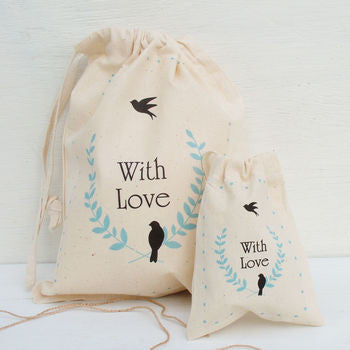 Personalised Bird Of Peace Gift Bags