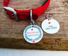 Christmas Personalised Pet Tag