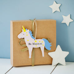 Personalised Lucky Wishing Unicorn Decoration