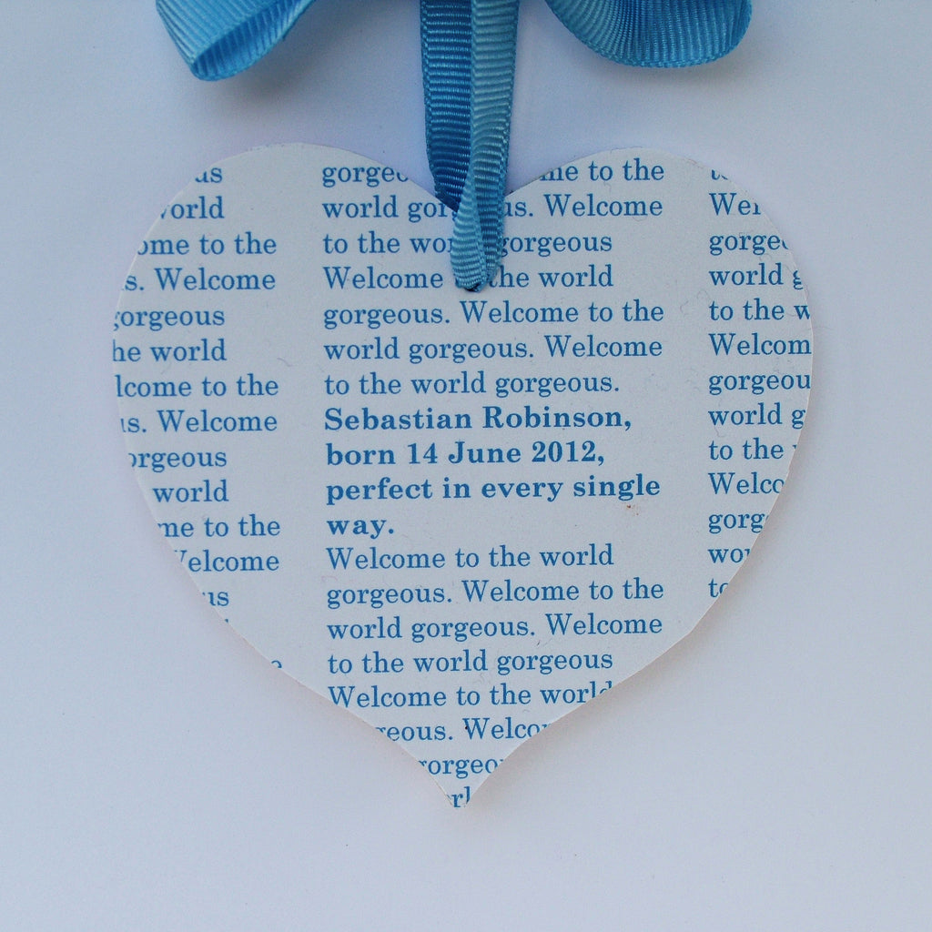 Personalised Message New Baby Card