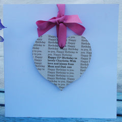 Personalised Message Birthday Card