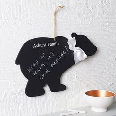 Personalised Polar Bear Chalkboard