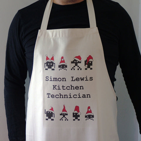 Christmas Space Invaders Apron