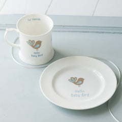 Baby Bird And Cloud China Mug And Plate