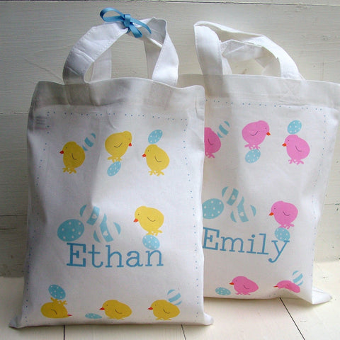 Balancing Chicks Personalised Egg Hunt Bag