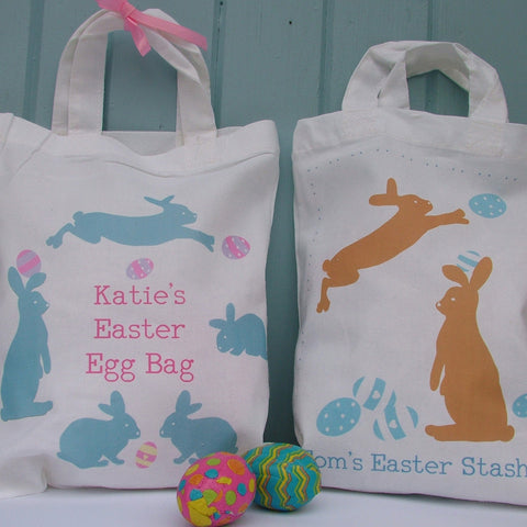 Bunny Run Personalised Egg Hunt Bag