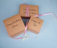 Brown Card Personalised Gift Boxes