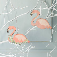 Christmas Flamingo Decoration
