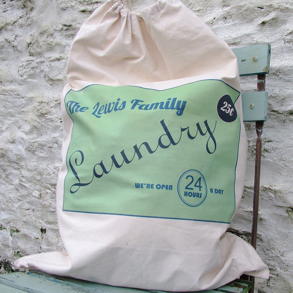 Personalised Retro Laundry Bag