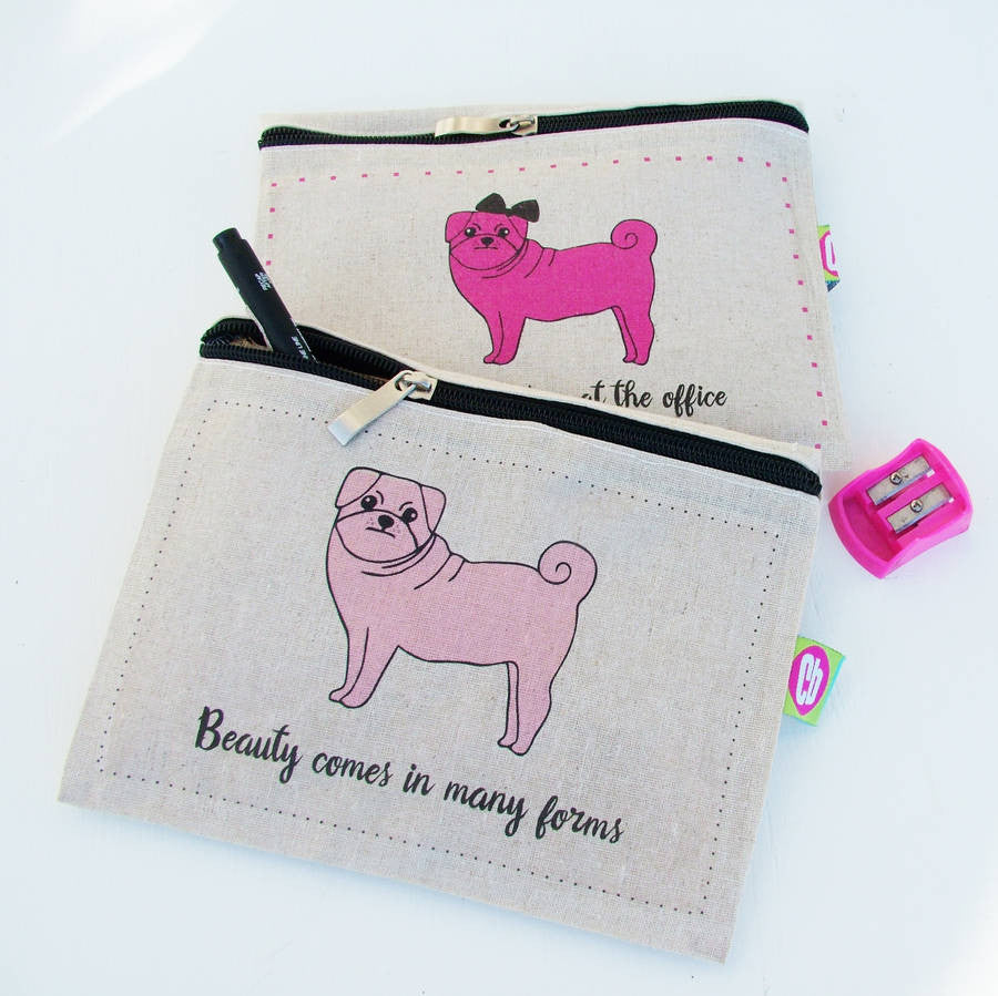 Harry The Pug Hemp Pencil Case