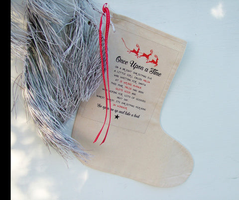 Personalised Christmas Story Stocking