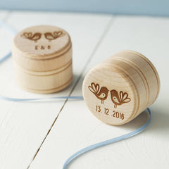 Love Birds Ring Or Earring Box