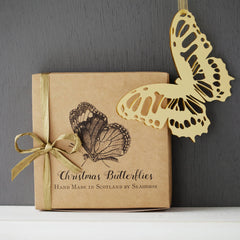 Luxe Gold Perspex Christmas Butterflies