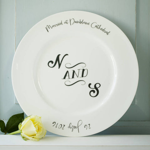 Monogram Wedding Or Anniversary Plate