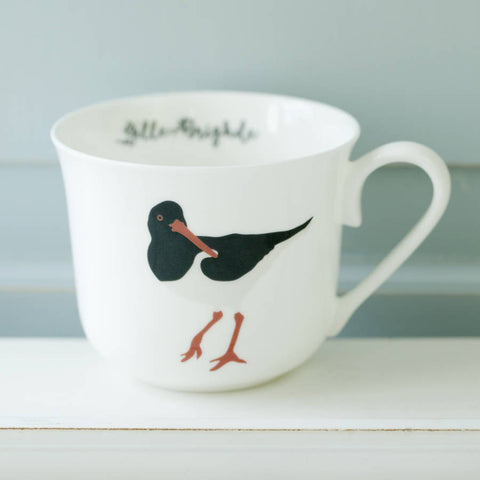 Oyster Catcher Personalised Breakfast Cup