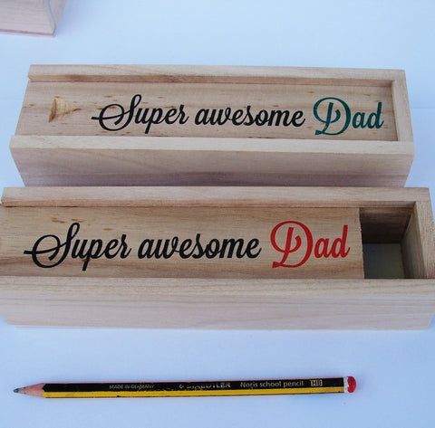 Personalised Wooden Pencil Case