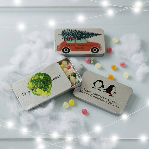 Personalised Christmas Sweet Tins