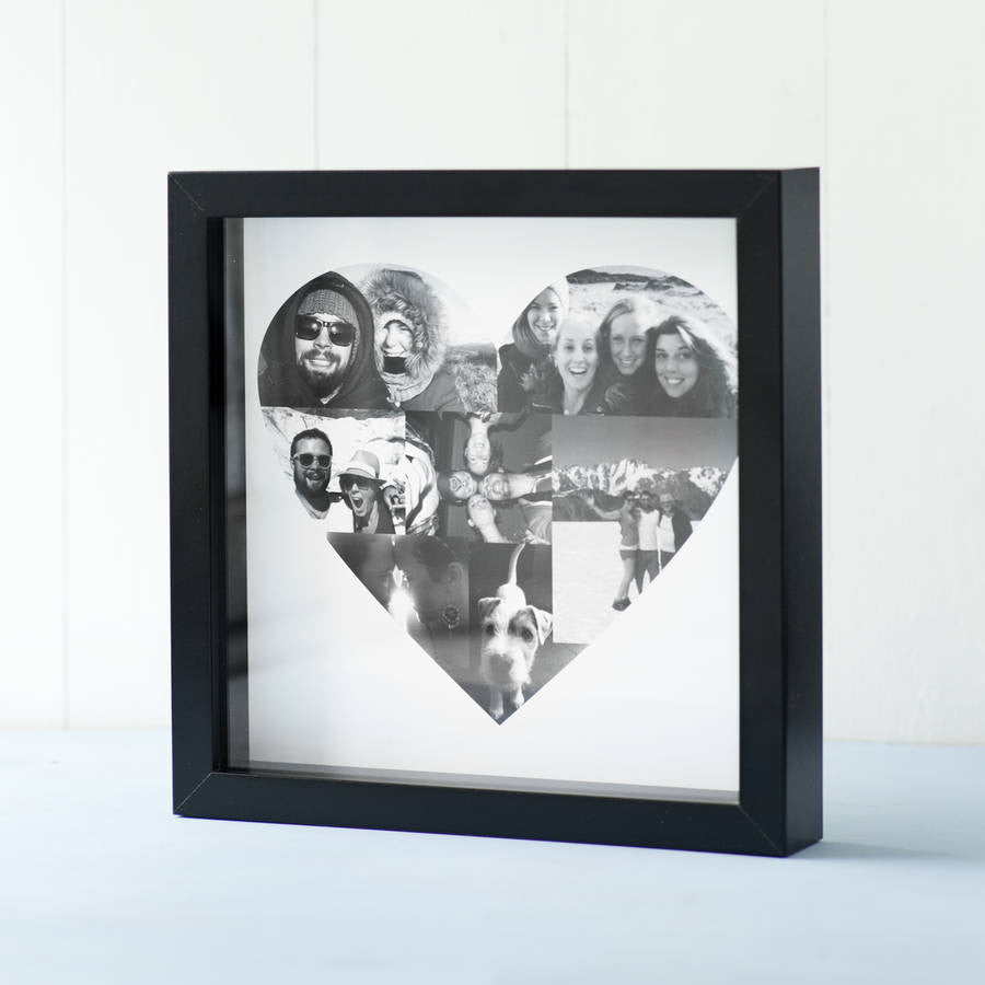 Personalised Heart Shaped Photo Collage – Seahorse