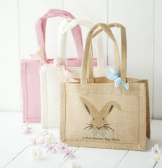 Personalised Jute Easter Hunt Bags