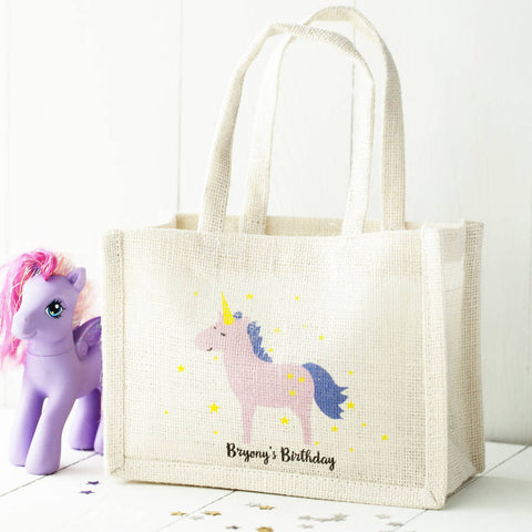Personalised Design Jute Party Bags