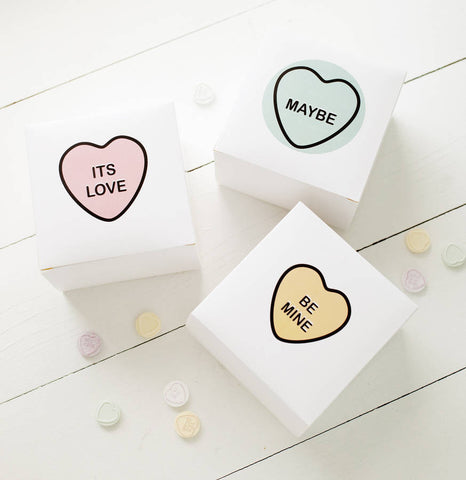 Personalised Love Heart Gift Box