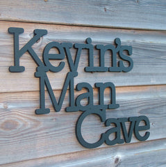 Personalised Man Cave Sign