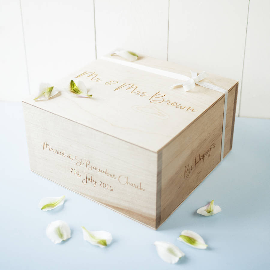 Personalised Message Wedding Keepsake Box