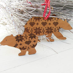 Personalised Mummy And Baby Bears In Jumpers