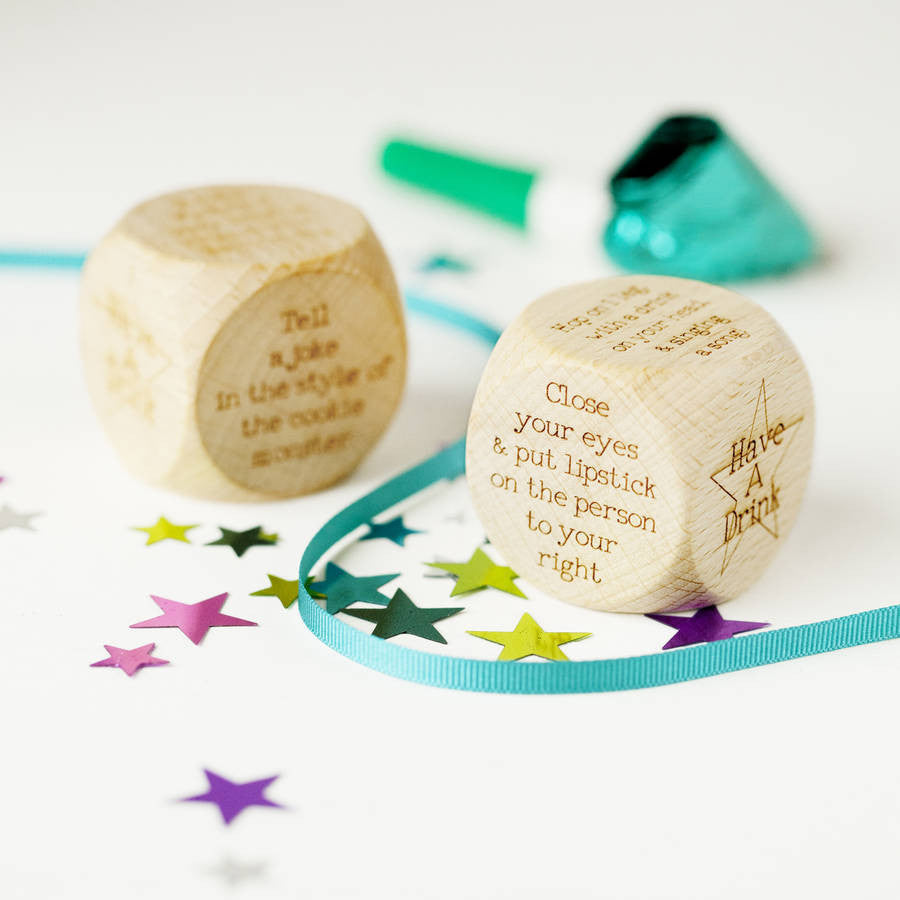 Personalised Party Forfeit Dice