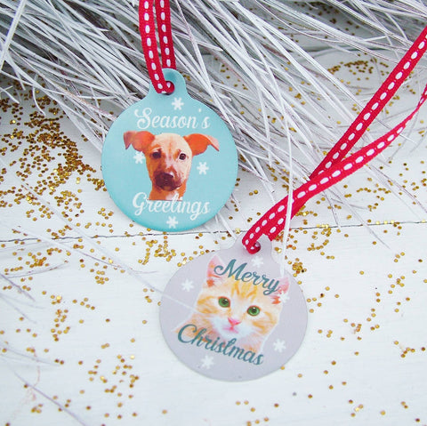 Personalised Pet Portrait Bauble