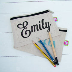 Personalised Print Hemp Pencil or Tablet Case