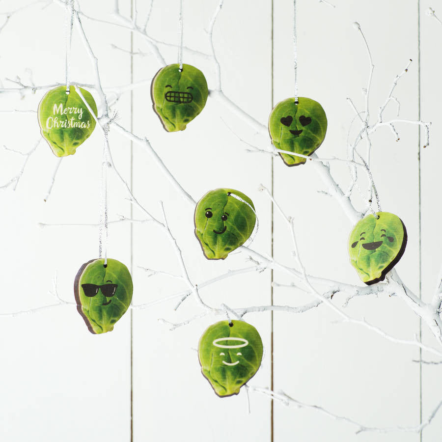 Personalised Wooden Brussell Sprout Decorations