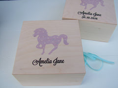 Childhood Memories Personalised Wooden Keepsake Box