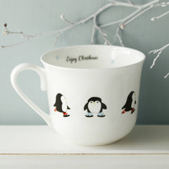 Skating Penguins Christmas Breakfast Cup