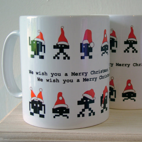 Christmas Space Invaders Mug