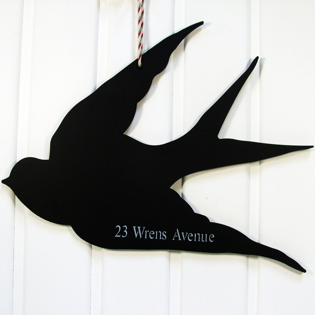 Personalised Address Swallow Chalkboard
