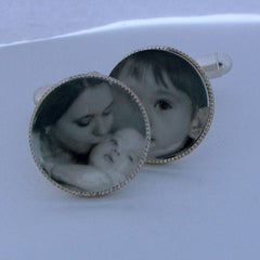 Our Family Personalised Photograph Cufflinks