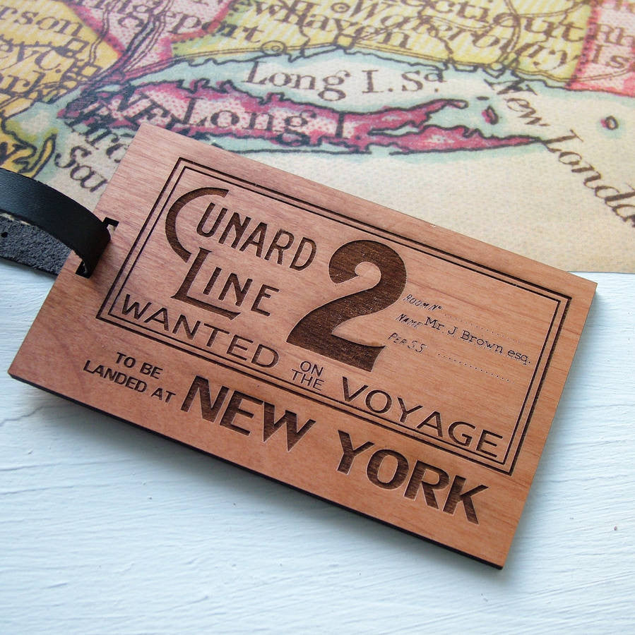 Vintage Ticket Personalised Luggage Tag