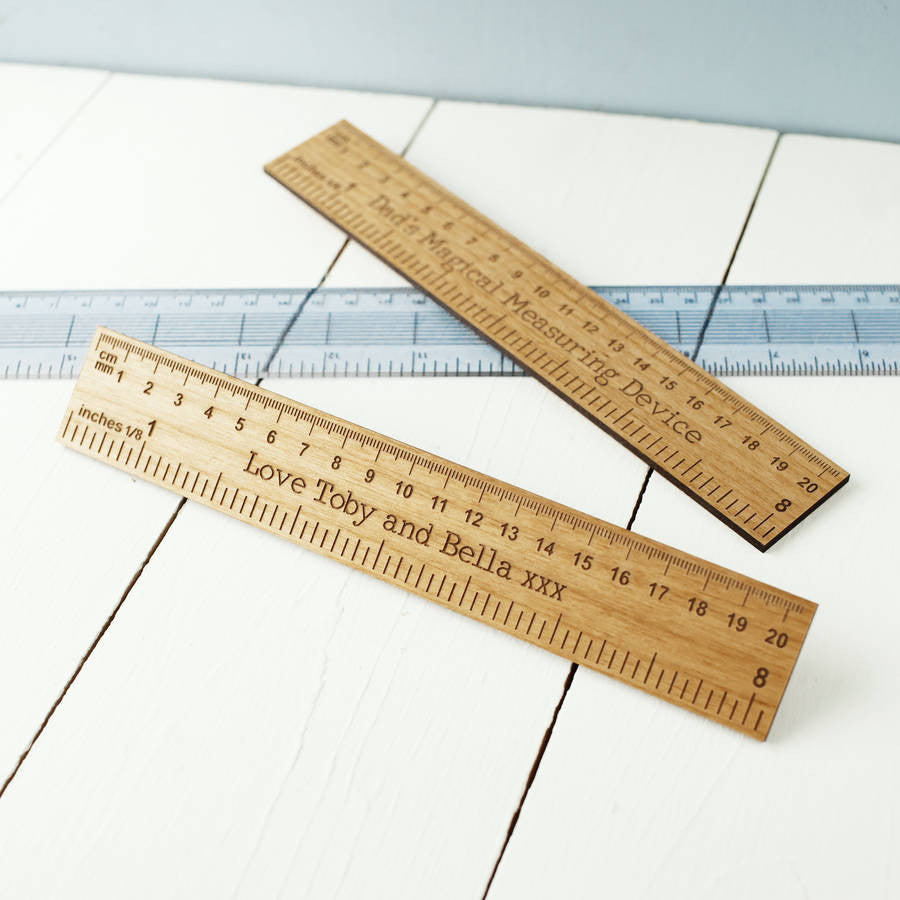 Personalised Engraved Alderwood Ruler