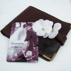 Photo and Message Wallet Card