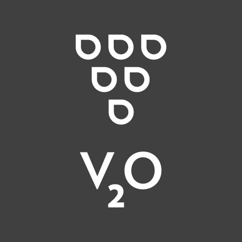 V2O inverted logo bw