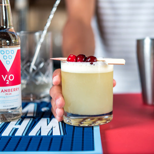 V2O Cranberry Pear flavored mixed drink