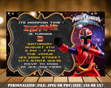 Power Rangers Birthday Party Invitation