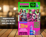 Fortnite Birthday Party Invitation