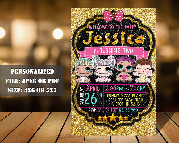 Lol Doll Birthday Party Invitation