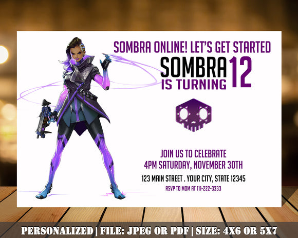 Overwatch Birthday Party Invitation