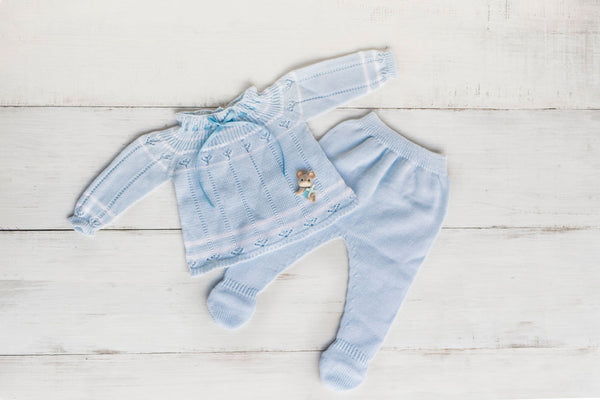 LAZO | Knitted Pants Set with Bonnet (3 pcs.)