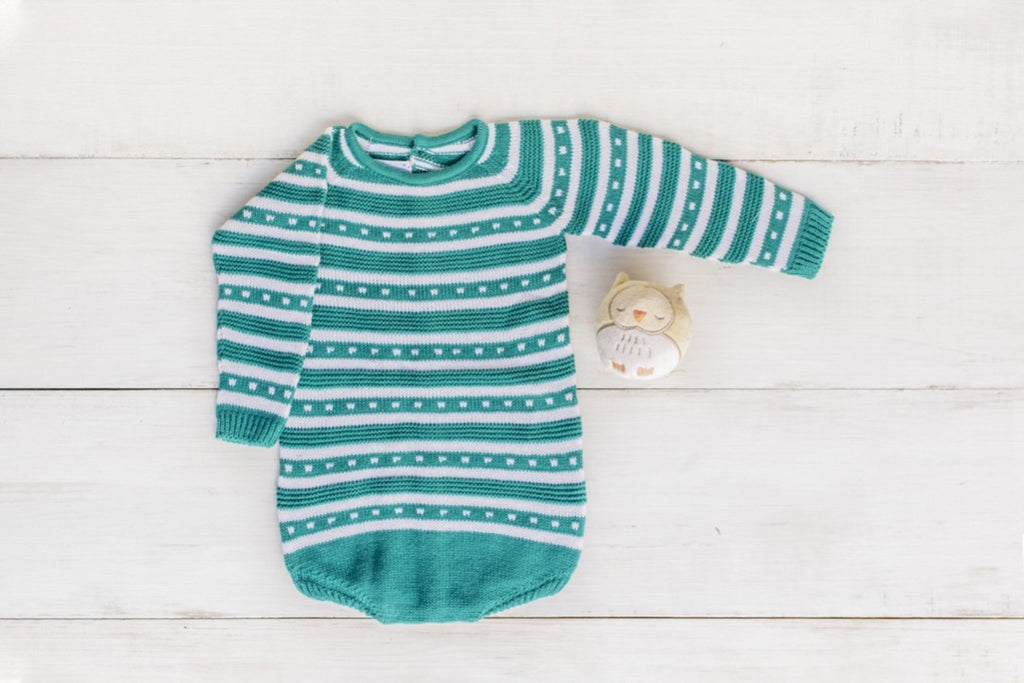 BE CUTE | Knitted Green Bodysuit