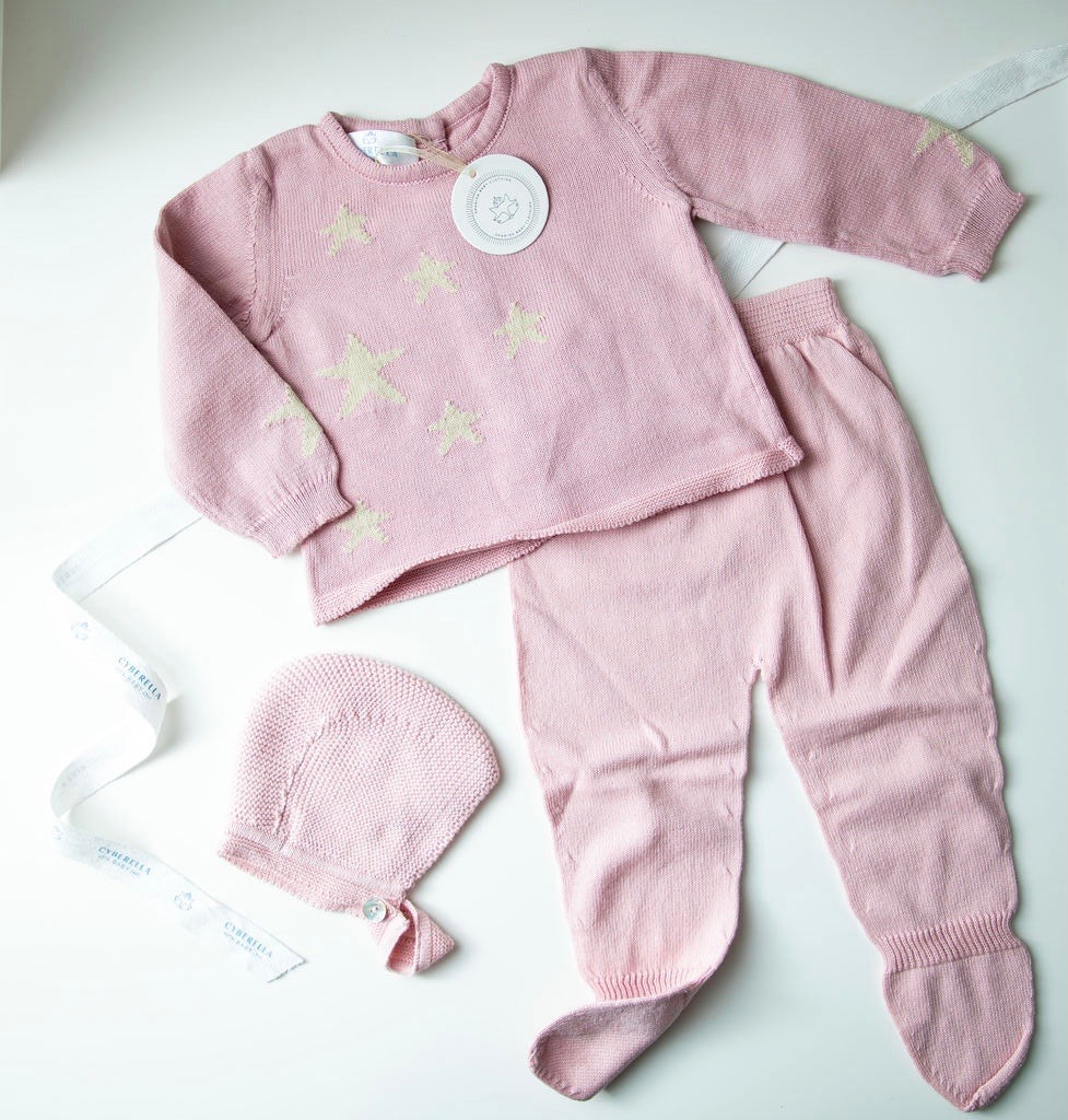 PINK STAR | Baby Knit Set (3 Pcs.)