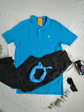 Load image into Gallery viewer, Playera azul polo